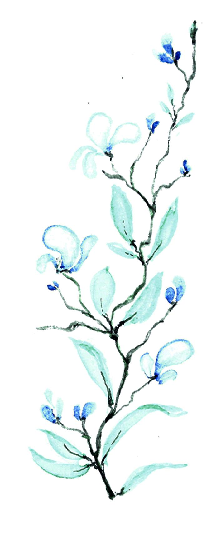 Aquarell Lesezeichen I 03/20