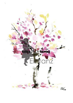 Wasserzeichen_Aquarell Baum rosa Krone mit Person 03-20