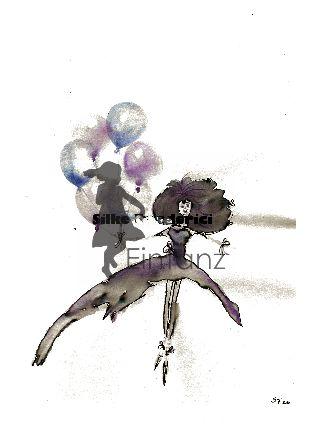 Wasserzeichen_Aquarell Luftballons mit Elfe Karte 03-20