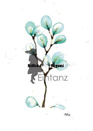 Aquarell blaue Blüten 03/20
