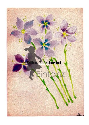 Aquarell blaue Blütenstiele II 04/20